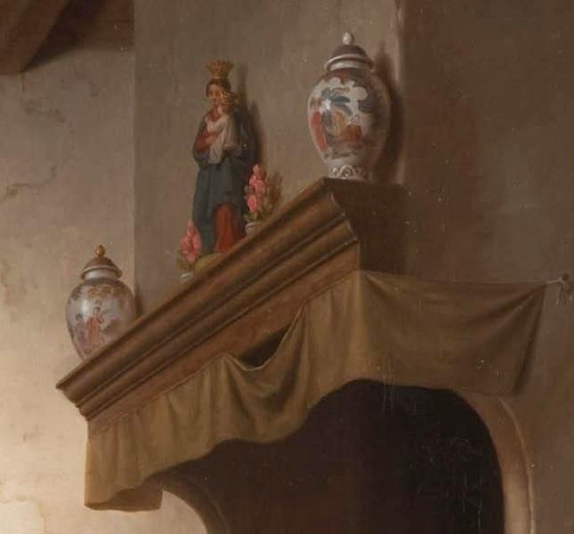 """Базиль де Луз, Печем вафли, фрагмент """"Каминная полка"""""""