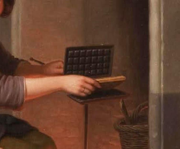 """Базиль де Луз, Печем вафли, фрагмент """"Вафельница и вафля"""""""