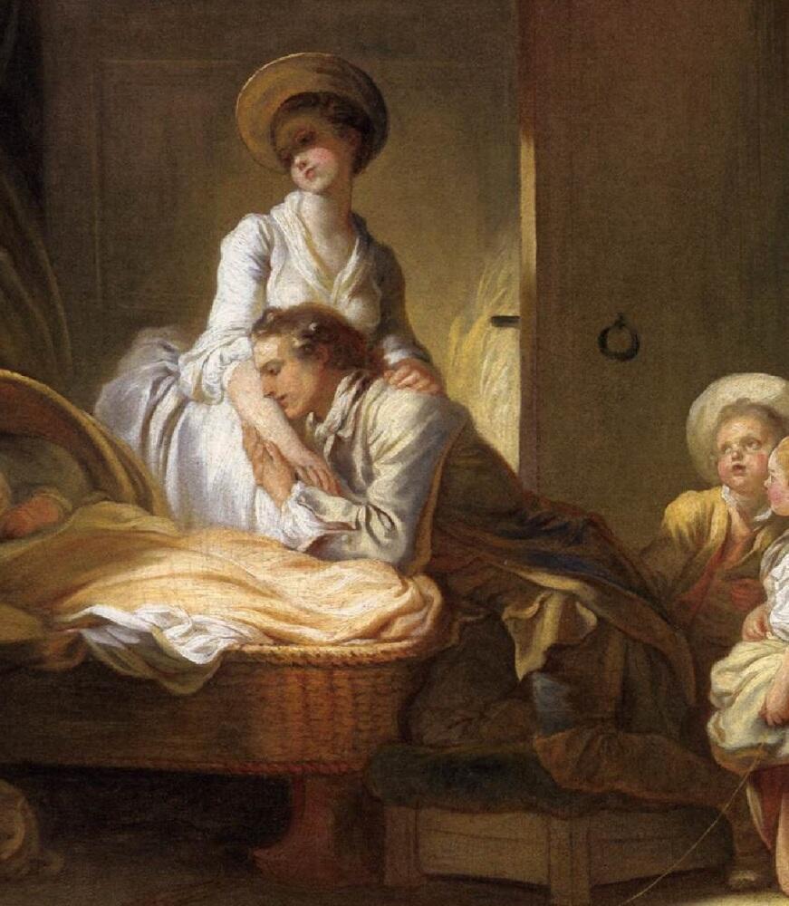 Жан Оноре Фрагонар, Визит к няне, фрагмент