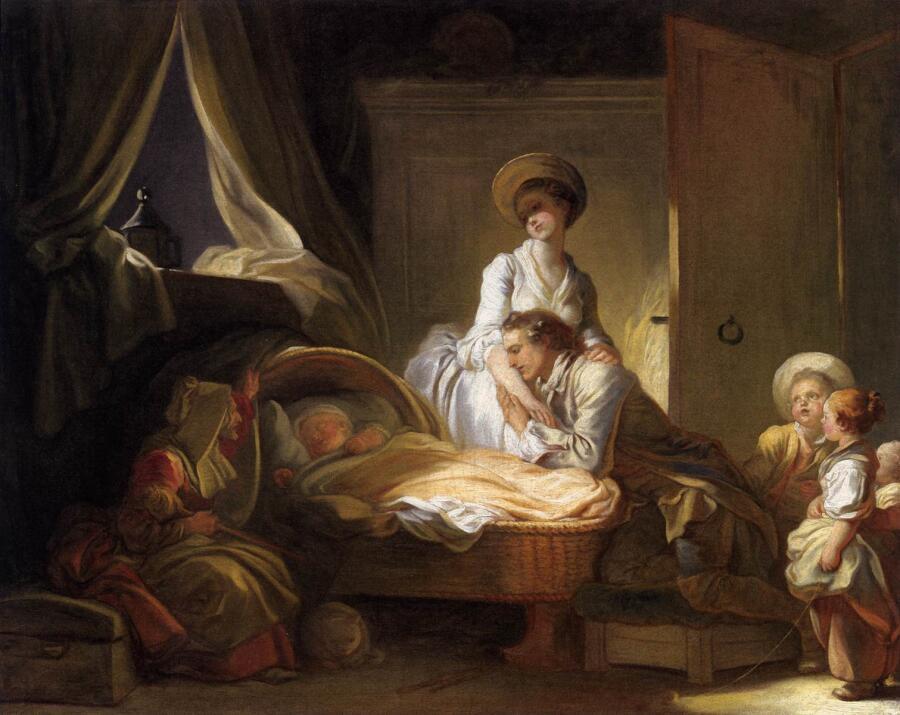 Жан Оноре Фрагонар, Визит к няне, 1775, 64х80 см, Национальная галерея искусств, Вашингтон, США
