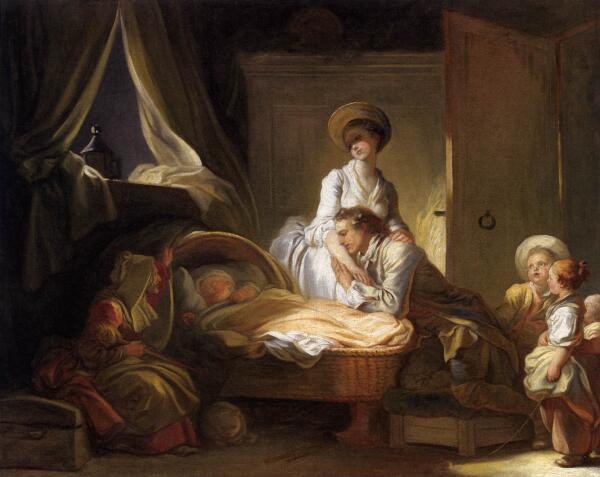 Жан Оноре Фрагонар, «Визит к няне». О чем эта картина?