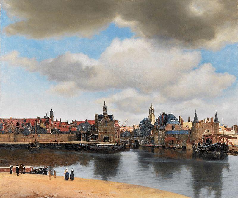 Я. Вермер, «Вид Делфта», 1660—1661 г.