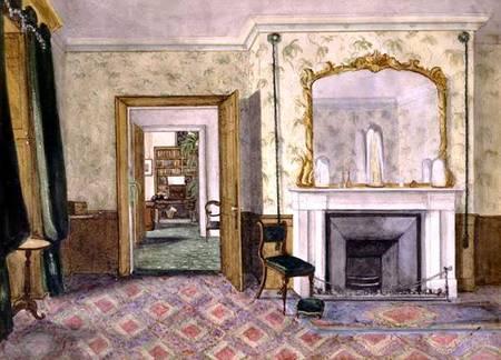 Мемориальная комната Фарадея в Королевском обществе. Акварель Гарриет Мур