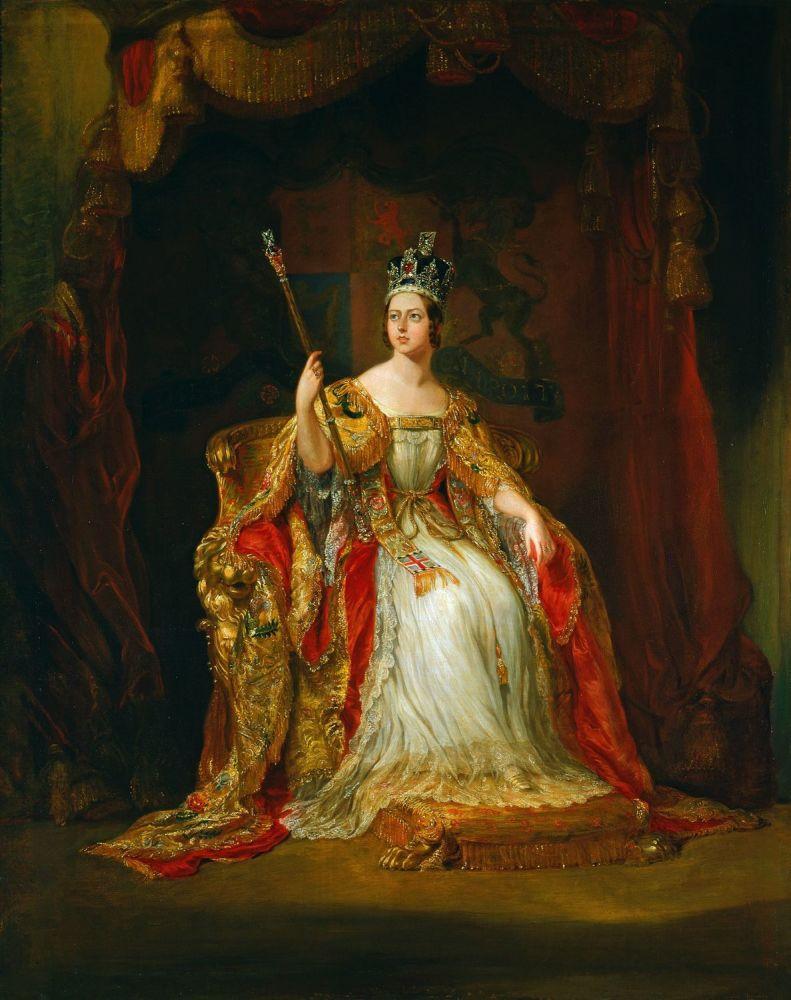 Коронационный портрет королевы Виктории, 1838, 128х103 см, Королевская коллекция, Лондон, Англия