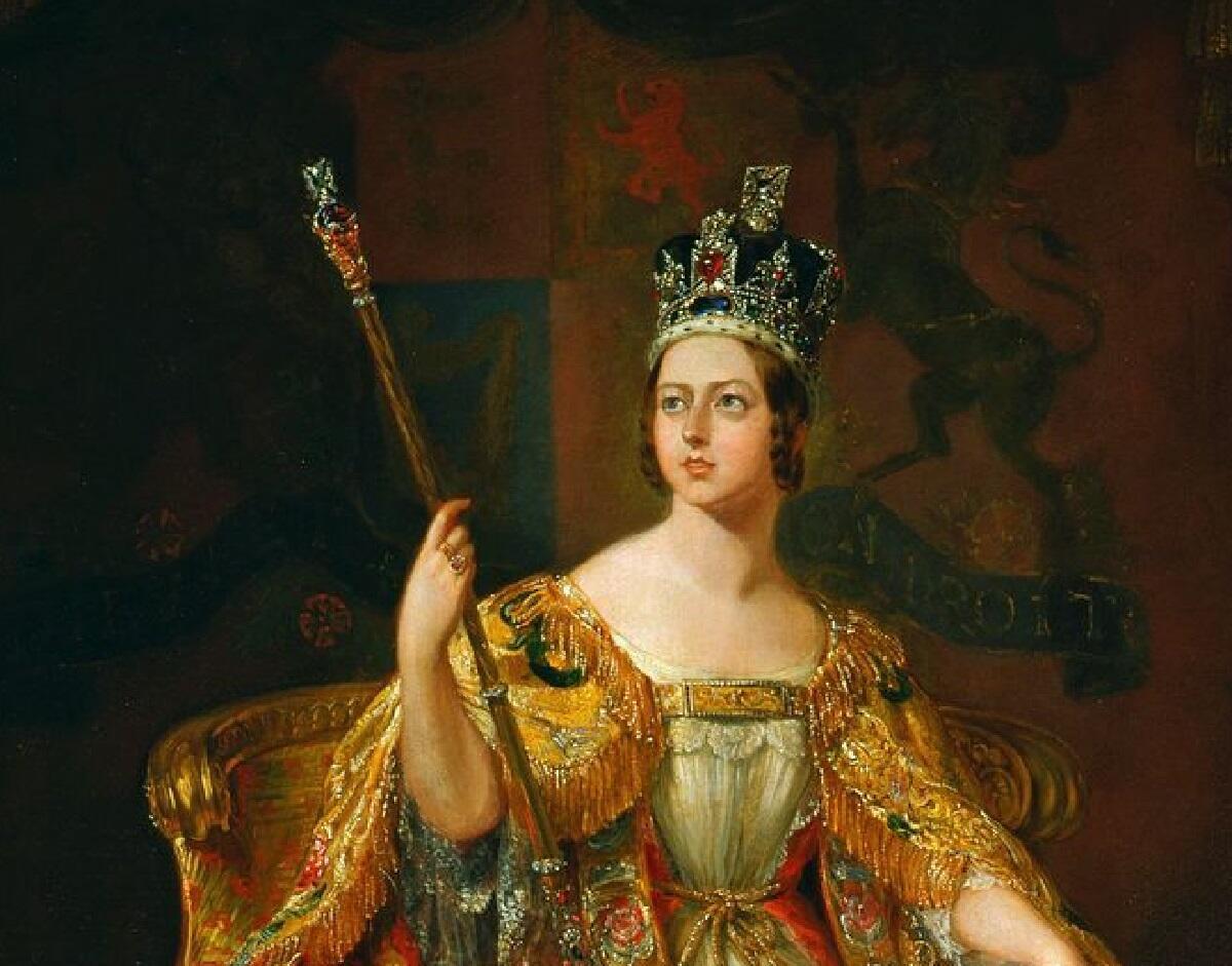 Коронационный портрет королевы Виктории, фрагмент