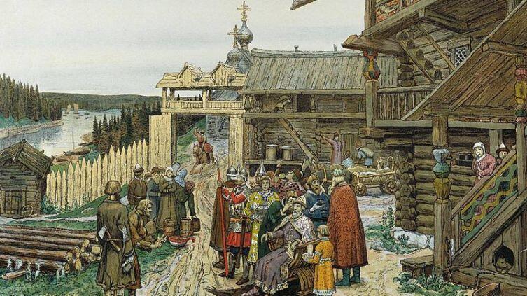 А.М. Васнецов, «Двор удельного князя»