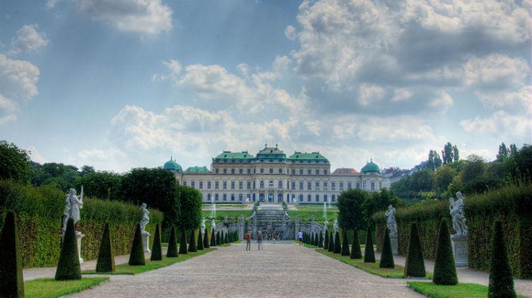 Дворцовый комплекс Бельведер в Вене, Австрия