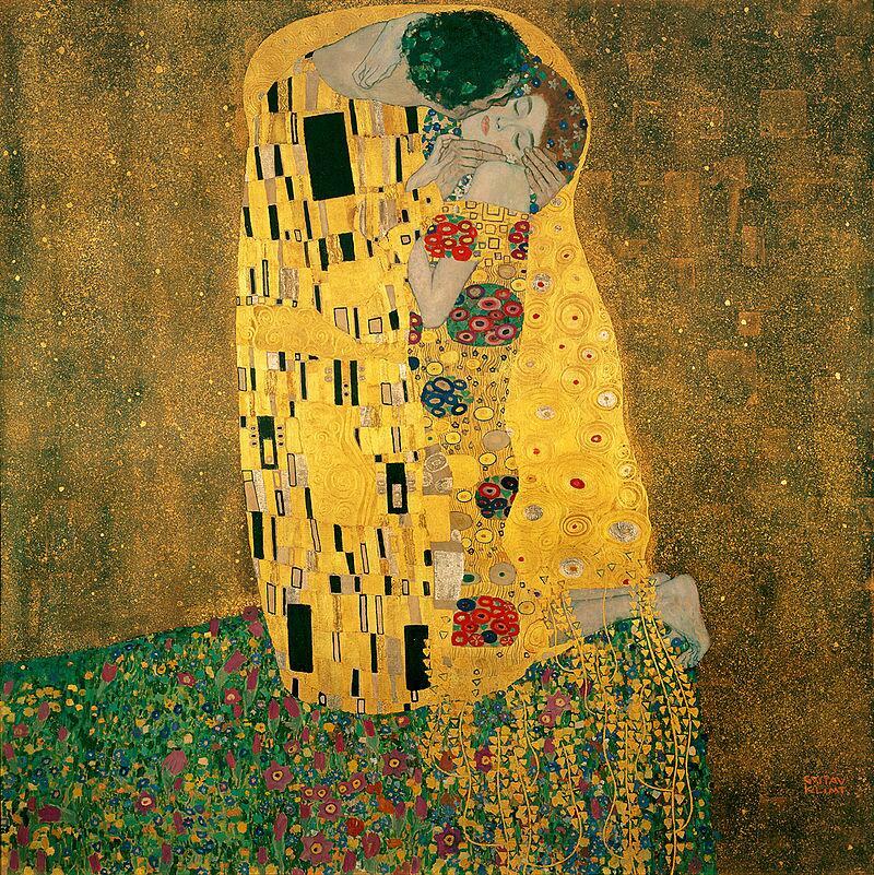 Г. Климт, «Поцелуй»