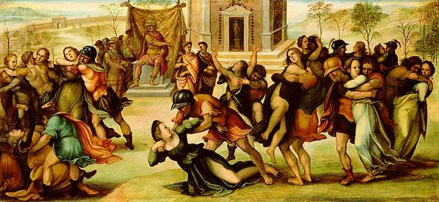 Джироламо дель Паккья, «Похищение сабинянок», ок. 1520 г
