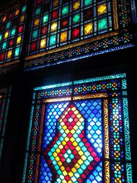 Витражи ханского дворца, г. Шеки