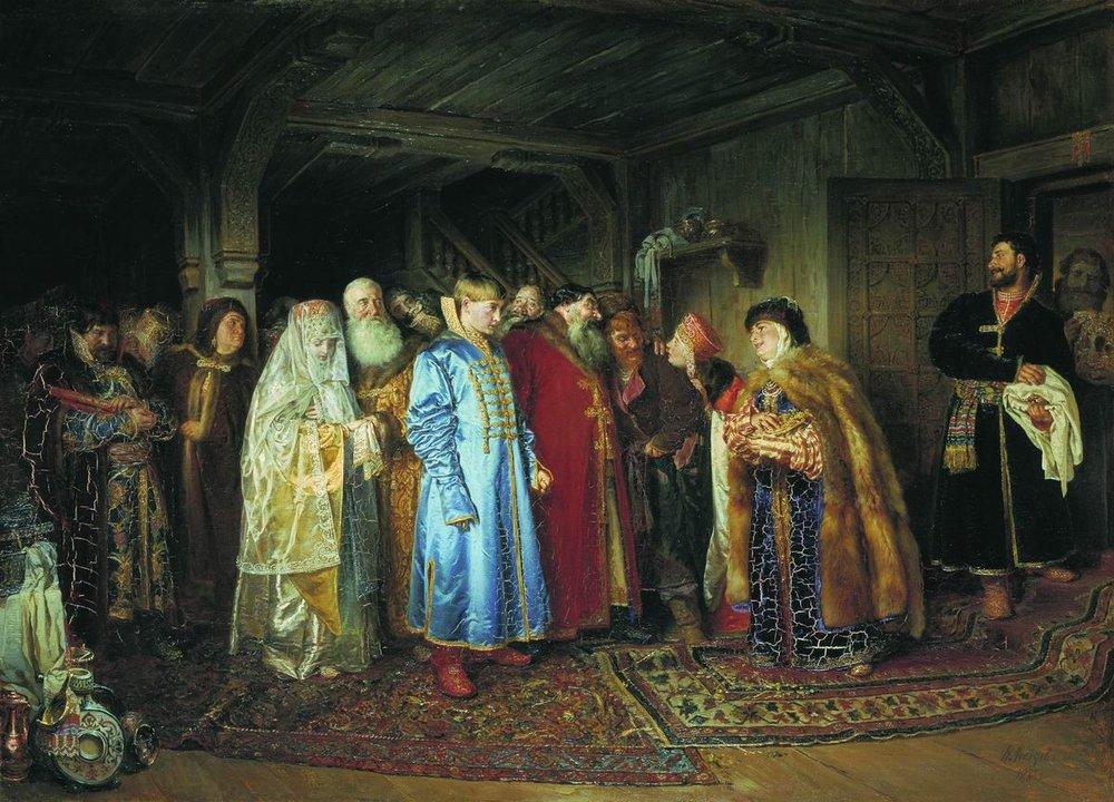 «Боярская свадьба», Клавдий Лебедев, 1883г
