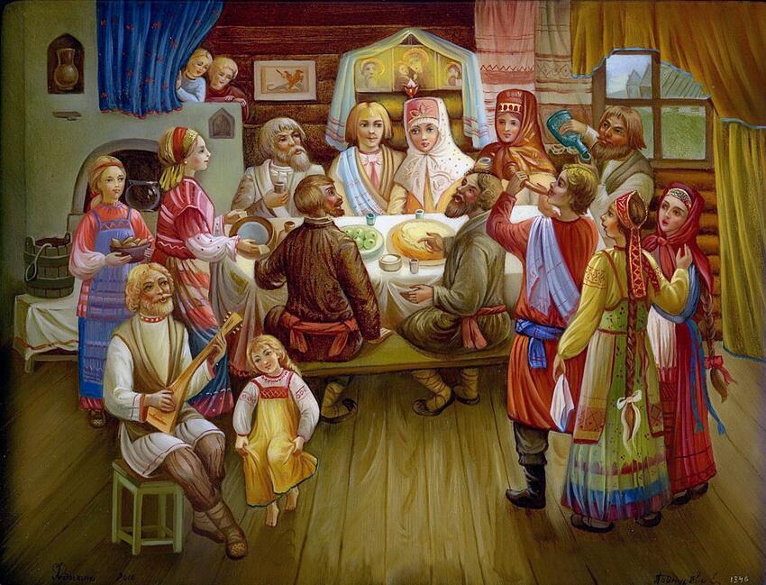 «Свадьба на Руси», Федоскинская миниатюра