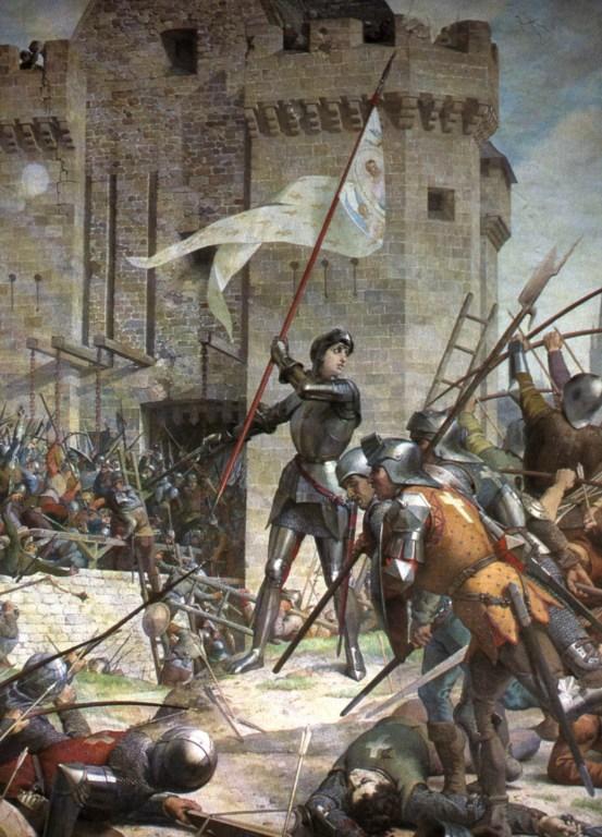 Ш. Ленепвё, «Жанна д'Арк при осаде Орлеана»