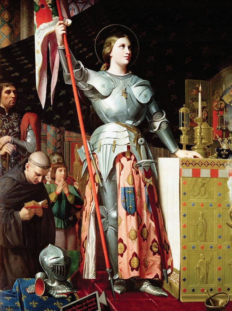 Жан Огюст Доминик Энгр, «Жанна д'Арк на коронации Карла VII», 1854 г.