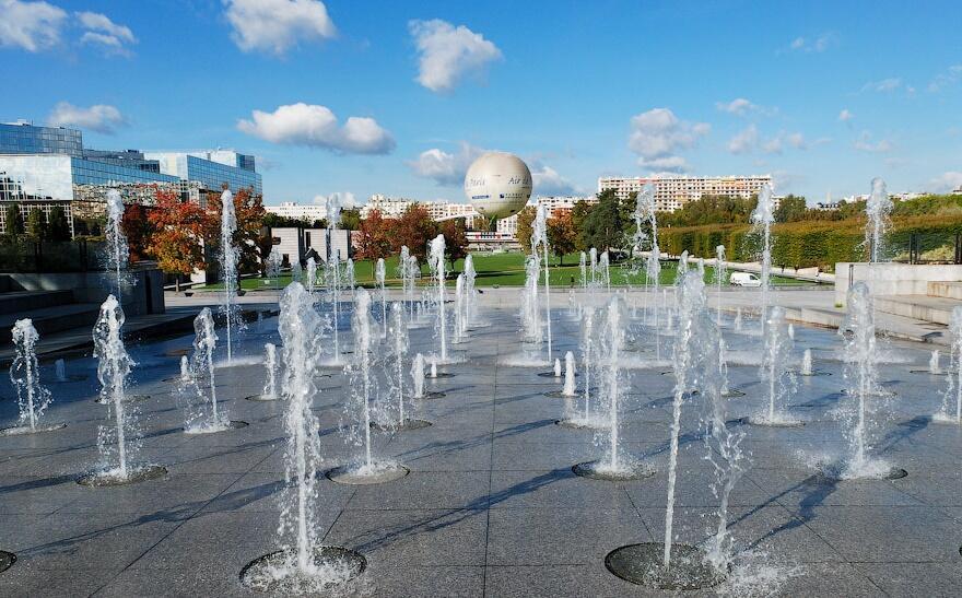 Парк Андре Ситроена на набережной Жавель