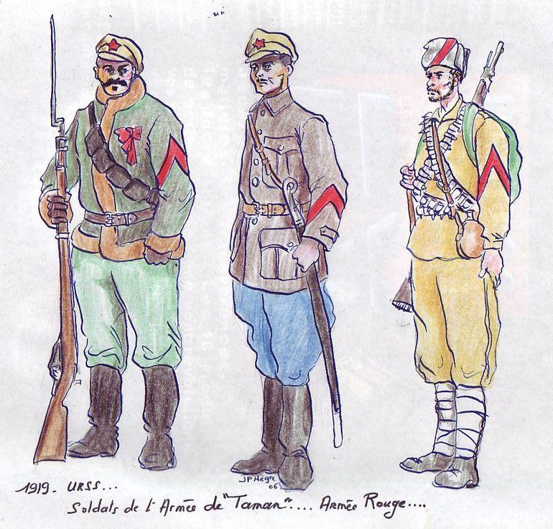 Первые знаки различия солдат Красной гвардии и Красной армии