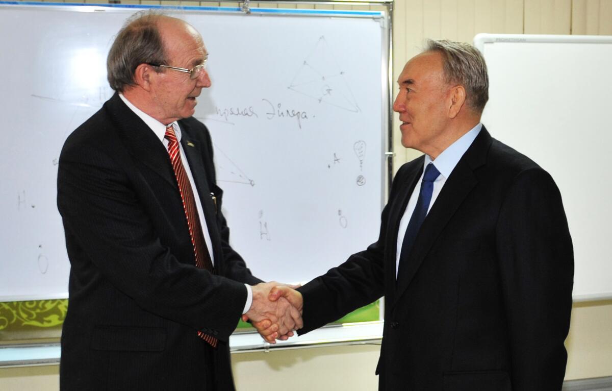Астана, 2009 год, Встреча с президентом Казахстана Нарсултаном Назарбаевым