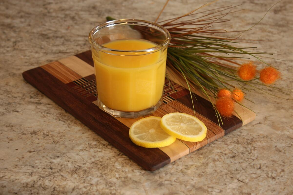 В тыквенный сок можно добавить лимон