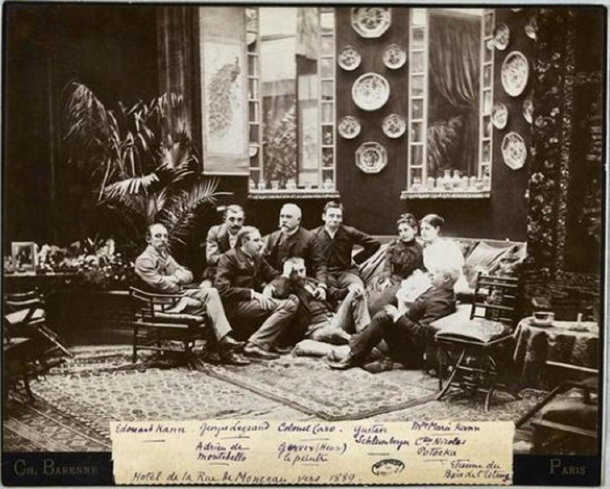 Клуб Маккавеев в доме графини Потоцкой, фото 1889 года.
