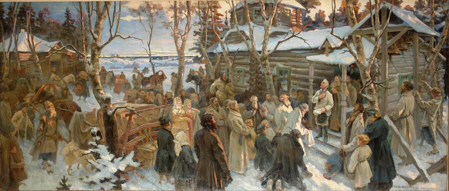 Н. А. Шабунин, «Отъезд А. В. Суворова из села Кончанского в поход 1799 г.»