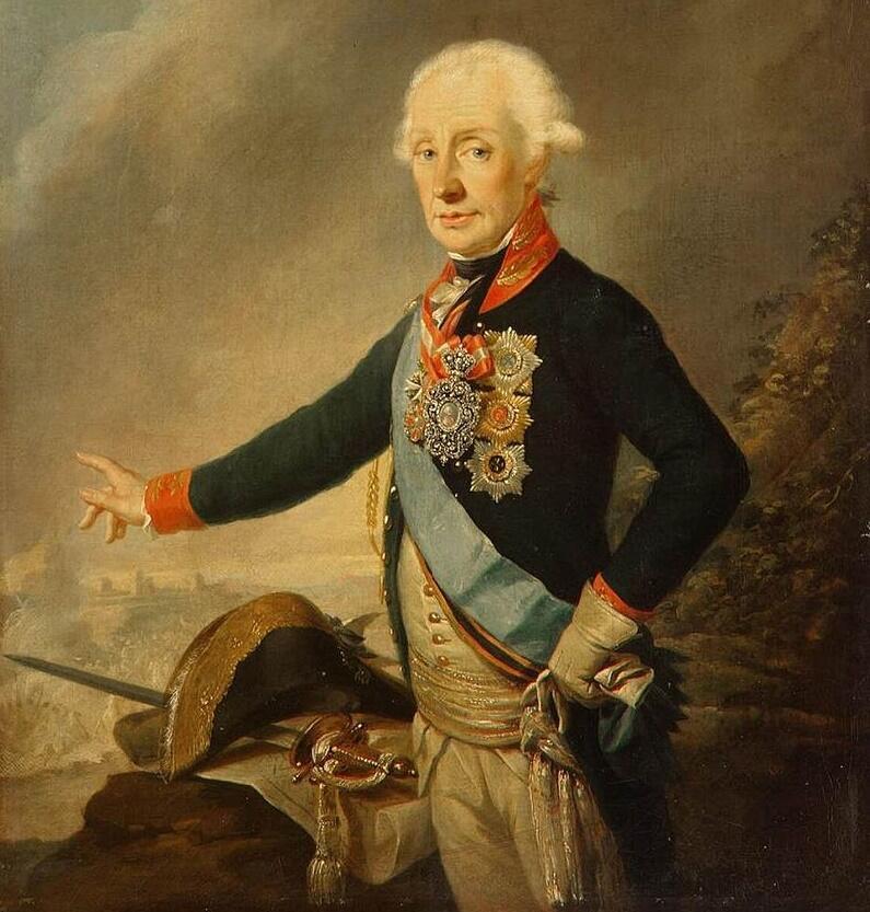 Й. Крейцингер, «Портрет фельдмаршала графа А. В. Суворова», 1799 г.