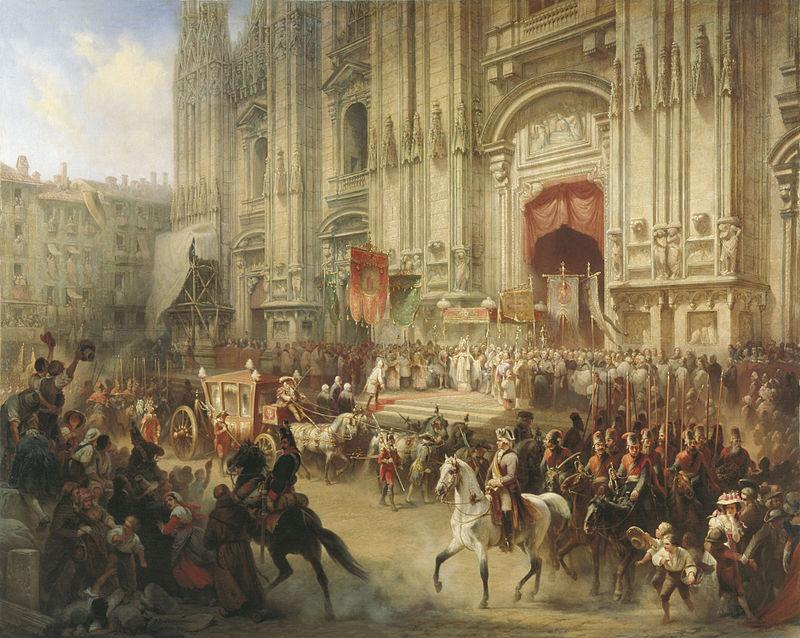А.Шарлемань, «Торжественная встреча Суворова в Милане в апреле 1799 г.»