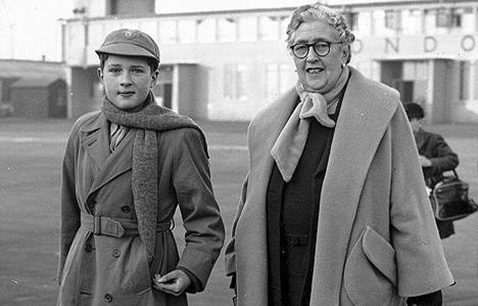 Агата Кристи со своим внуком Мэтью Причардом