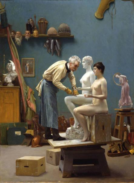 Жан-Леон Жером, Скульптор за работой, 1890, Dahesh Museum of Art, Нью-Йорк, США
