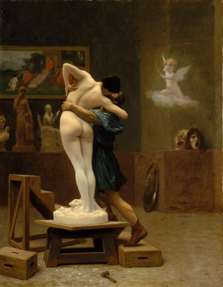Жан-Леон Жером, Пигмалион и Галатея, 1880, 89×69 см, Метрополитен музей, Нью-Йорк, США