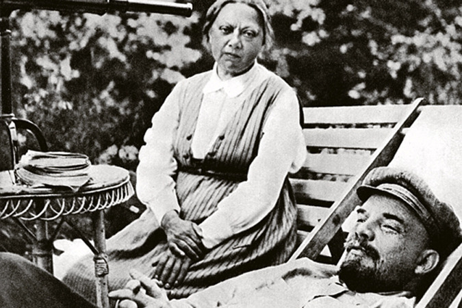 В. И. Ленин и Н. К. Крупская