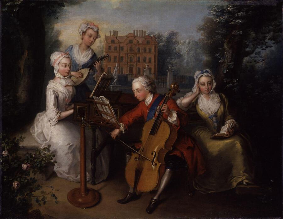 Принц Уэльский с сёстрами Анной, Каролиной и Амелией, ок. 1733