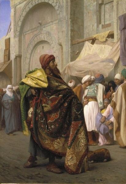 Жан-Леон Жером, «Продавец ковров в Каире», 1869 г.