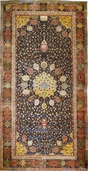 Ковер Ардебиль, Иран, XVI век, Музей Альберта и Виктории, Лондон, Англия