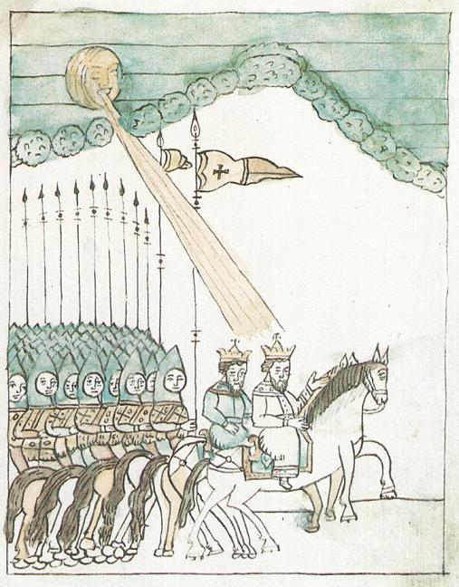 Выступление русского войска на Куликовскую битву, старинная миниатюра