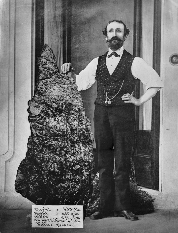 Бернард Хольтерманн и самый большой в мире самородок