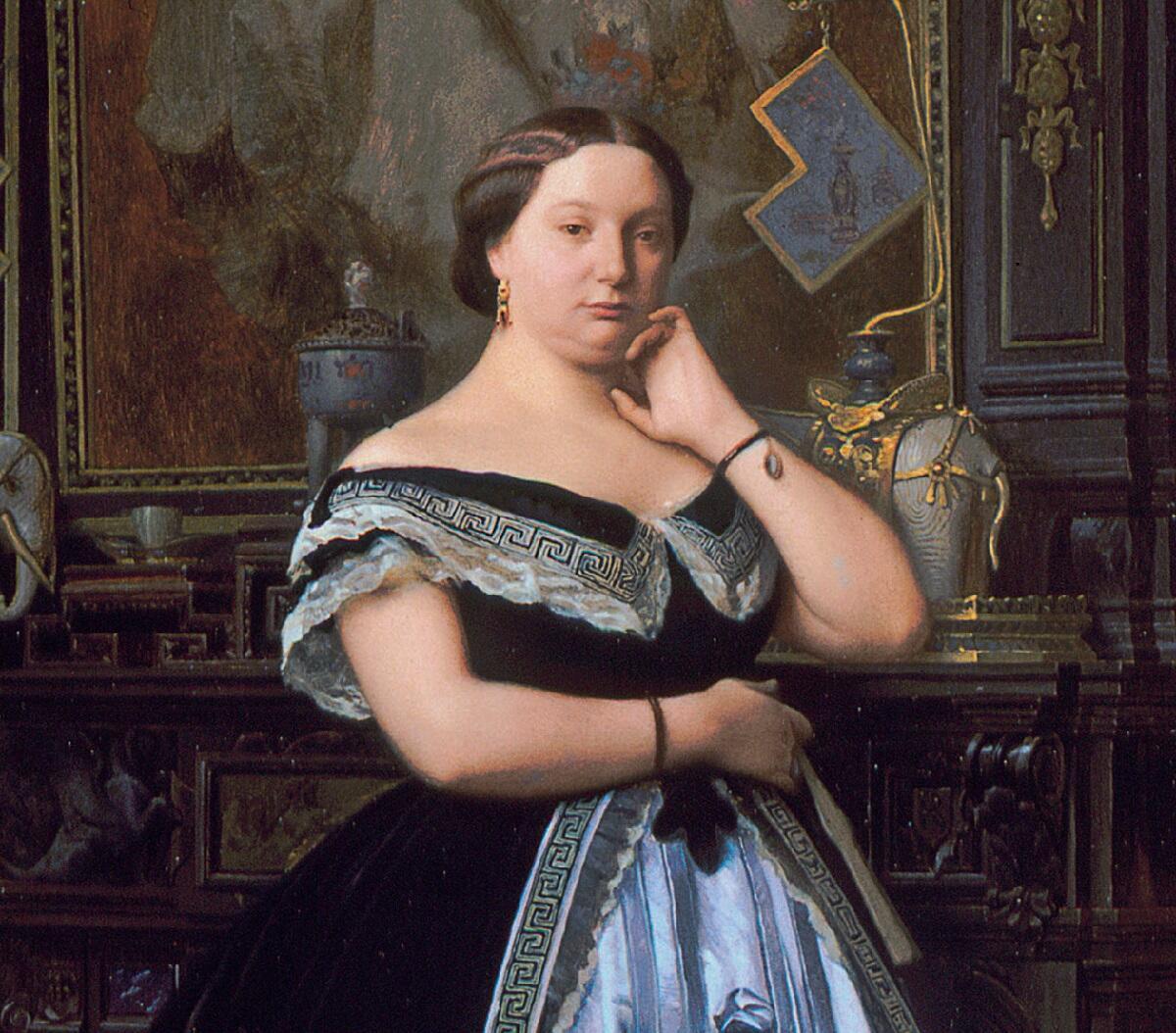 Жан-Леон Жером, портрет баронессы Шарлотты Ротшильд, фрагмент