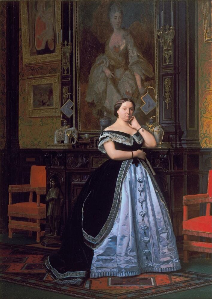Жан-Леон Жером, портрет баронессы Шарлотты Ротшильд, 1866, 50х36см, музей д