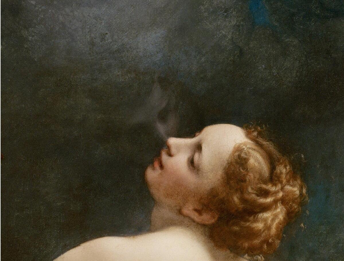 Корреджо, Юпитер и Ио, фрагмент «Божественный поцелуй»