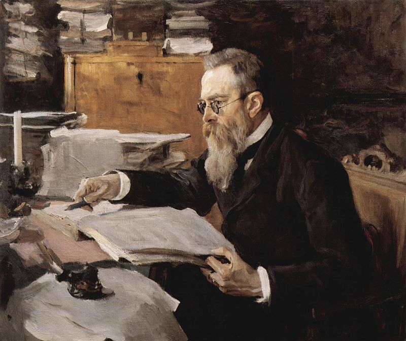 В. А. Серов, портрет Н. А. Римского-Корсакова, 1898 г.
