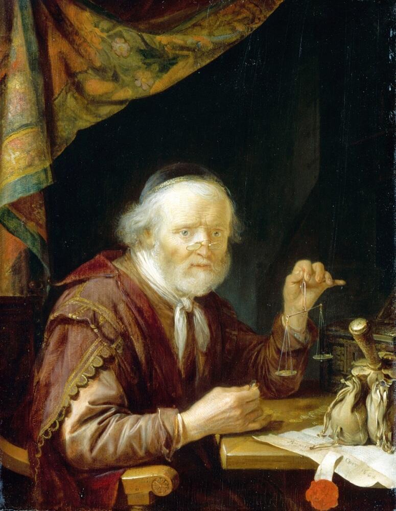 Герард Доу, Ростовщик, 1664, 29х23 см, Лувр, Париж, Франция