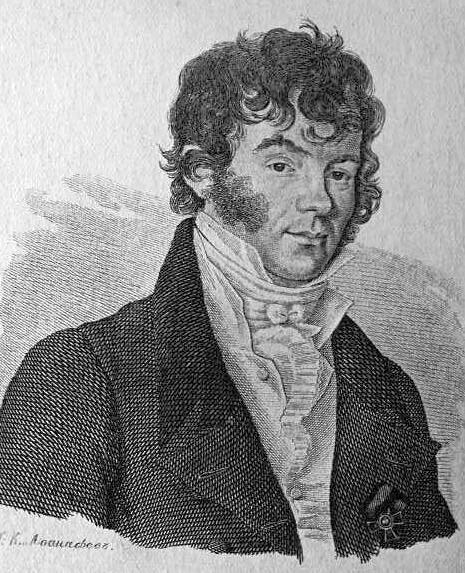 А.Х. Востоков, автор романса «Светлана и Мстислав», портрет 1825 года