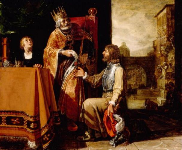 Питер Ластмен, «Давид дает письмо Урии», 1611 г.
