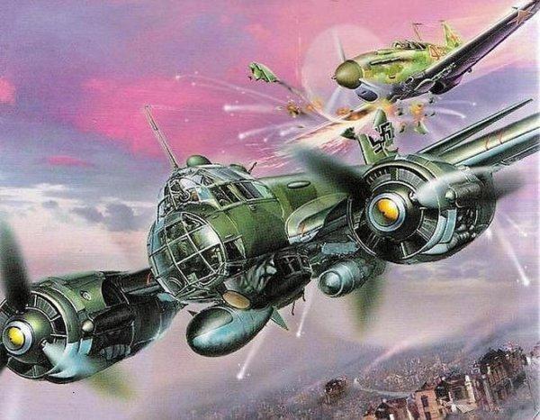 Ковзан таранит Ju-88 над Загорском 29 октября 1941 года