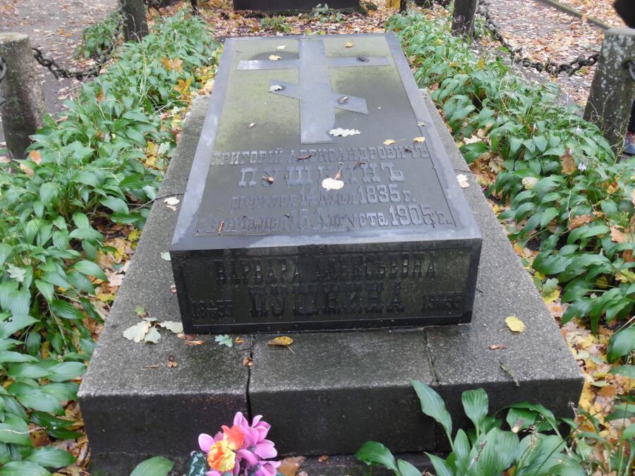 Могила Григория и Варвары Пушкиных