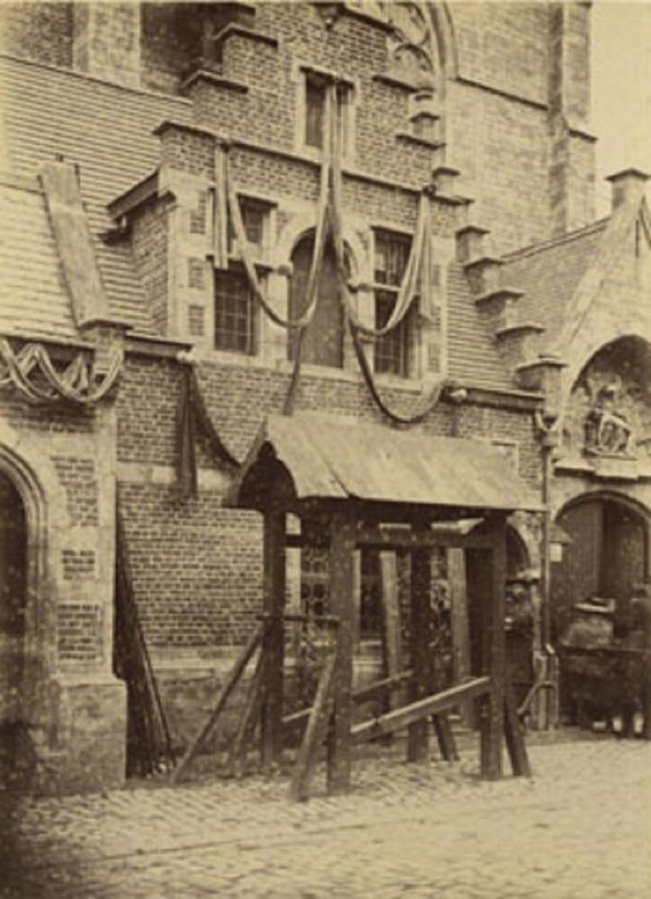 Кузница для лошадей в Антверпене, XIX век