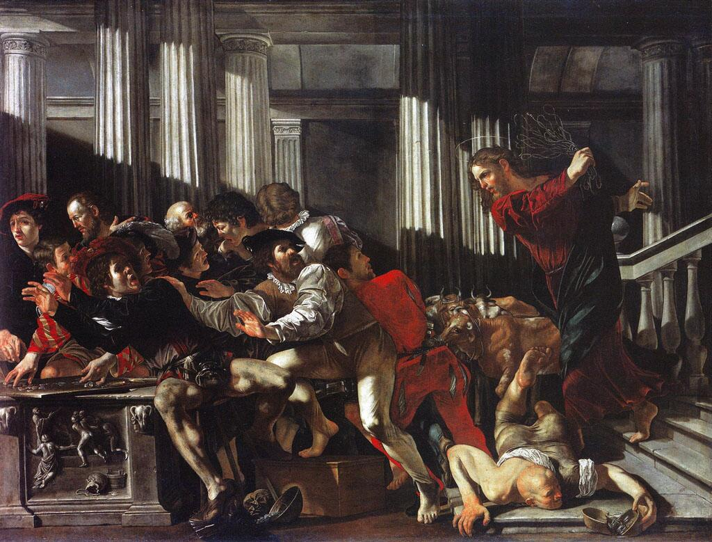 Франческо Бонери, «Христос, изгоняющий из храма торговцев», 1615 г.