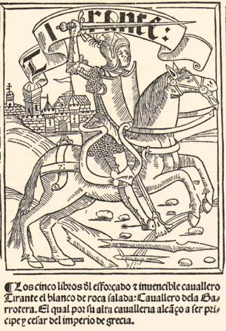 Титульный лист кастильского издания «Тирант Белый», 1511 г.
