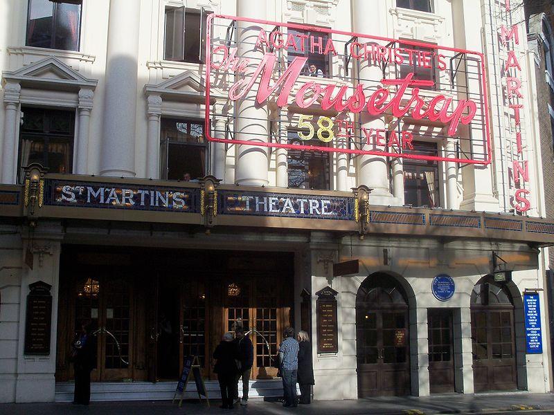 Театр St. Martins в Лондоне, где в ноябре 2012 г. прошла 25-и тысячная постановка пьесы «Мышиловка»