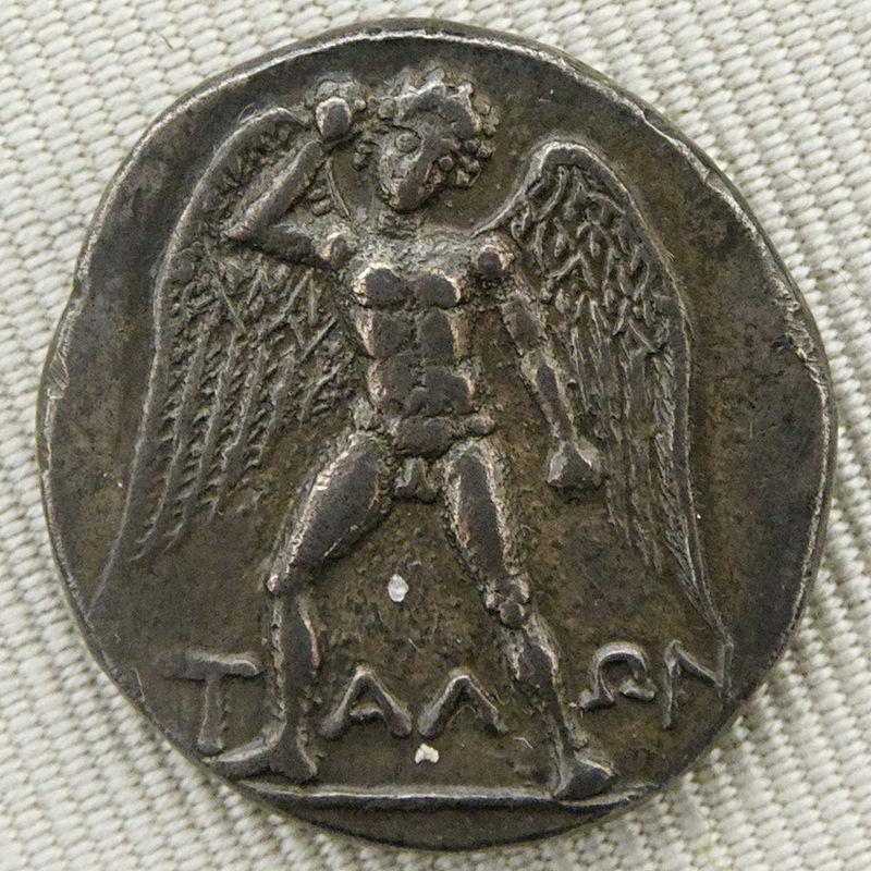 Серебряная дидрахма из Феста, начало III в. до н. э.