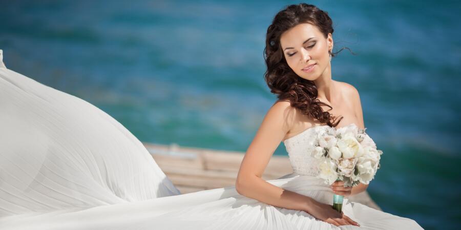 Удачное свадебное фото